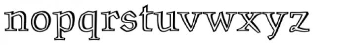 Oldrichium Pro Engraved Font LOWERCASE