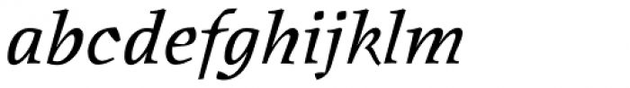 Oldrichium Pro Italic Font LOWERCASE