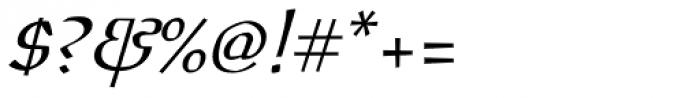 Oldrichium Pro Light Italic Font OTHER CHARS