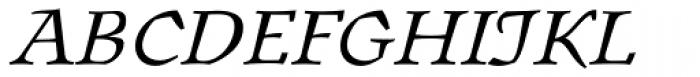 Oldrichium Pro Light Italic Font UPPERCASE
