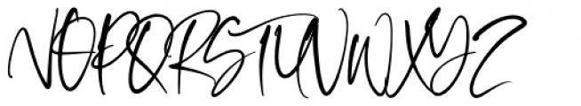 Oliver Notes Regular Font UPPERCASE