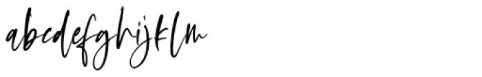 Oliver Notes Regular Font LOWERCASE