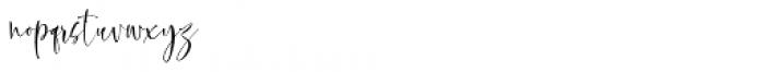 Olivera Regular Font LOWERCASE