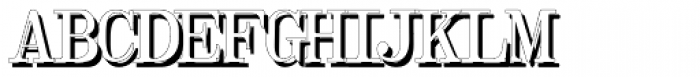 Olivetti Typewriter Shadow Font UPPERCASE