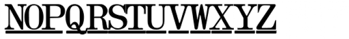 Olivetti Typewriter Underscore Font UPPERCASE