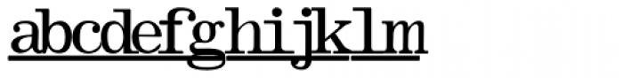 Olivetti Typewriter Underscore Font LOWERCASE