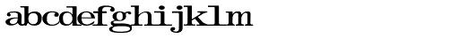 Olivetti Typewriter Wide Font LOWERCASE