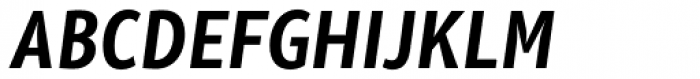 Olivine Narrow Semi Bold Italic Font UPPERCASE