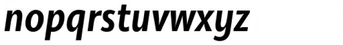 Olivine Narrow Semi Bold Italic Font LOWERCASE