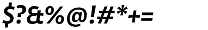 Olivine Semi Bold Italic Font OTHER CHARS