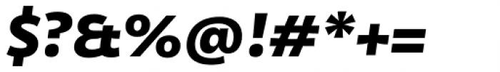Olivine Wide Black Italic Font OTHER CHARS