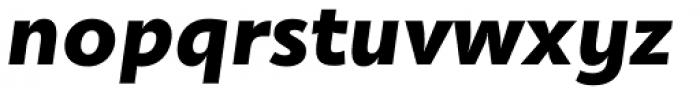 Olivine Wide Black Italic Font LOWERCASE