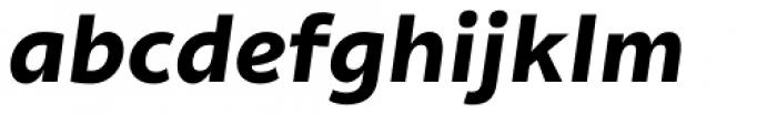 Olivine Wide Bold Italic Font LOWERCASE