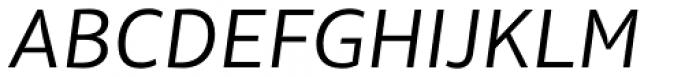 Olivine Wide Book Italic Font UPPERCASE