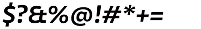 Olivine Wide Semi Bold Italic Font OTHER CHARS