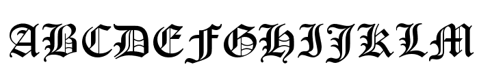 Old English Text MT Font UPPERCASE