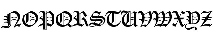 OldEnglishD Font UPPERCASE