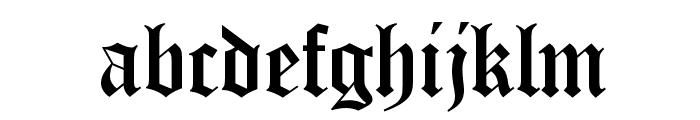 OldEnglishD Font LOWERCASE