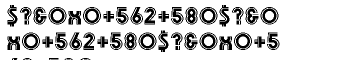 Olympik Bold Line Font OTHER CHARS