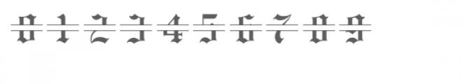 old english split monogram font Font OTHER CHARS