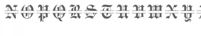 old english split monogram font Font UPPERCASE