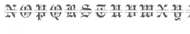 old english split monogram font Font LOWERCASE