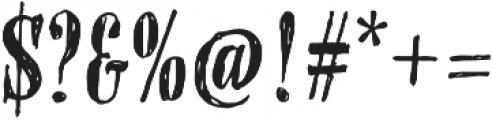 OMORIKA Regular otf (400) Font OTHER CHARS