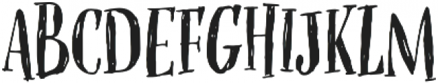 OMORIKA Regular otf (400) Font UPPERCASE