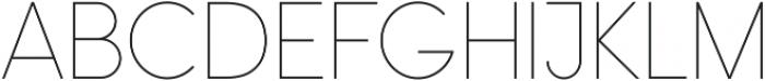 Omega Sans ttf (300) Font UPPERCASE