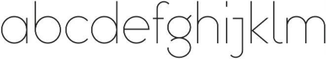 Omega Sans ttf (300) Font LOWERCASE