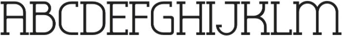 Omni Serif Light otf (300) Font UPPERCASE