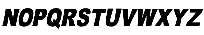 OMNIBLACK Italic Font UPPERCASE