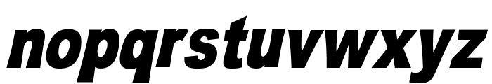 OMNIBLACK Italic Font LOWERCASE