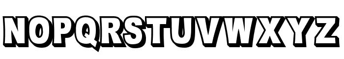 OMNIBLACK Outline Font LOWERCASE