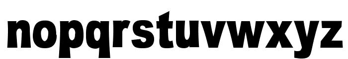 OMNIBLACK Font LOWERCASE
