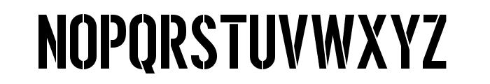 Ombudsman Stencil Font UPPERCASE