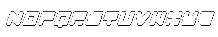 Omega-3 3D Italic Font LOWERCASE