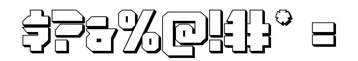 OmegaForce 3D Regular Font OTHER CHARS