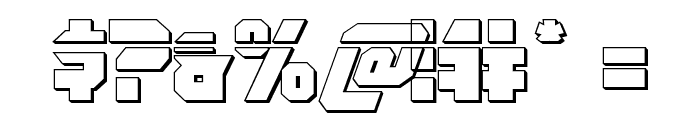 OmegaForce Bullet Italic Font OTHER CHARS