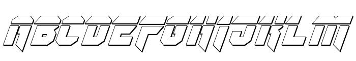 OmegaForce Bullet Italic Font UPPERCASE