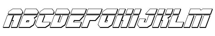OmegaForce Bullet Italic Font LOWERCASE