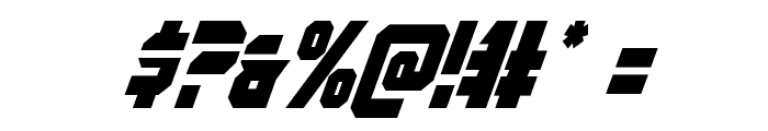 OmegaForce Condensed Italic Font OTHER CHARS