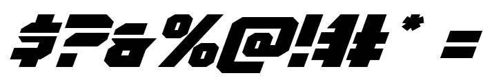 OmegaForce Expanded Italic Font OTHER CHARS