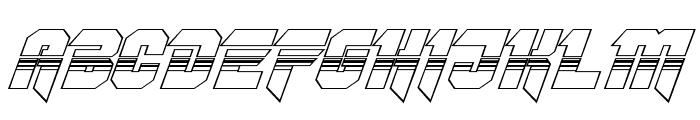 OmegaForce Halftone 3D Italic Font UPPERCASE