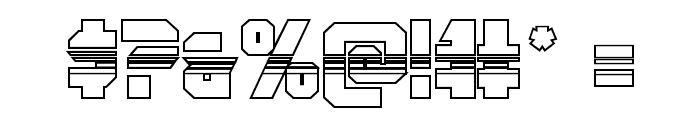 OmegaForce Halftone 3D Regular Font OTHER CHARS