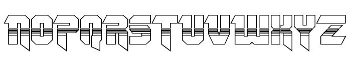 OmegaForce Halftone 3D Regular Font UPPERCASE