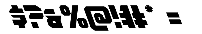 OmegaForce Leftalic Font OTHER CHARS