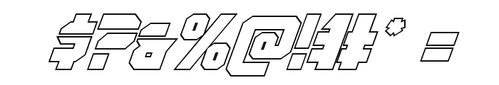 OmegaForce Outline Italic Font OTHER CHARS