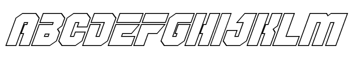 OmegaForce Outline Italic Font LOWERCASE