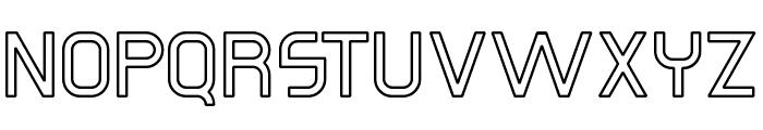 Omicron Zeta Hollow Font UPPERCASE